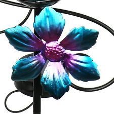 More details for garden stakes decor solar lights outdoor wrought iron butterfly decoration