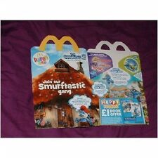 U.K McDonalds happy meal empty box Smurfs 2 (used)