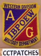 AG IBPOEW WESTERN DIVISION MILITARY DEPARTMENT ELKS FELT PATCH