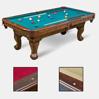 "EastPoint Sports Classic 87"" Pool Table Billiard Set Light Cues Balls Brush PICK"