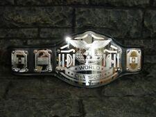 BLOWOUT SALE ! World Championship Belt Emperor Model Black Metal Plates