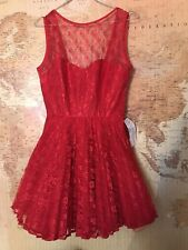 ❤️New with Tags Jones and Jones Topshop Dress Size 10 Red❤️