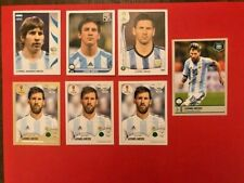 Lionel Messi Panini Rookie Wc 7 pcs set new mint 2006 2010 2014 2018 TOP!