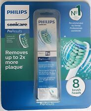 8 Pack Philips Sonicare HX6014 Philips ProResults Toothbrush Heads Authentic