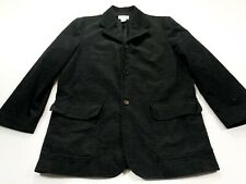 Armani Exchange 38 Men's Black Corduroy Three Button Blazer Jacket Coat