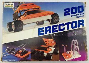 1981 Gabriel Erector Set 200 Construction Set Contents Sealed New Old Stock