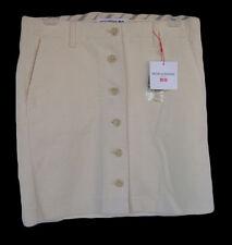 INES DE LA FRESSANGE UNIQLO Size 2 Ivory Corduroy Skirt NWT Button Front