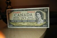 1954 $20 Dollar Bank of Canada Banknote GW3364624 Crisp
