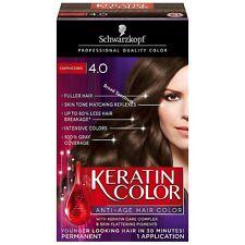 Schwarzkopf Keratin Color Anti-Age Hair Color, Cappuccino [4.0] 1 ea