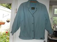 Mid Blue lined ladies' showerproof jacket by David Barry Size 12