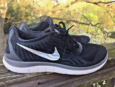NIKE FREE 4.0 FlyKnit Gray White Black Running Athletic Walking Mens Shoes Sz 11