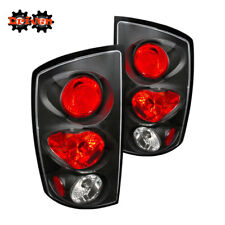 Rear Tail Light Clear Lens Black Housing Red  02-06 Dodge Ram 1500/2500/3500
