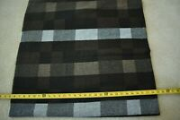"""By 1/2 Yd, 54"""" Wide, Brown Black Gray Plaid Lt-Mid-Weight Wool, P1256"""