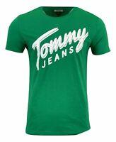 Tommy Hilfiger Men's S/S Cotton Tommy Jeans T-Shirt - Regular Fit - Green