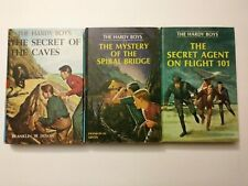1960s The Hardy Boys Book Lot #7,45,46 Hardcover Franklin W Dixon 8907 8945 8946