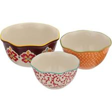New listing 3-Piece Bowl Set Scalloped Edge Serving Microwave Safe The Pioneer Woman