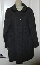 BOYNE VALLEY Reversible gray WOOL long tunic coat MENS WEAR M 10 12 IRELAND