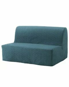 NEW Ikea Slipcover for Lycksele Sleeper Sofa Vallarum Turquoise Blue 203.234.19