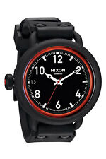 Nixon October Black/Red Mens Watch- Model A488760 - Brand New w/Box $350