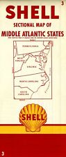 1955 Shell Road Map: MIddle Atlantic States NOS