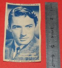 CINEMA 1947 TURF CIGARETTES CARD FILM STARS 19 GREGORY  PECK HOLLYWOOD MGM