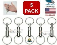 5-Pack Detachable Pull Apart Quick Release Keychain Key Rings/ US Free Shipping