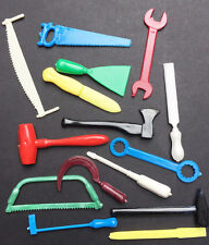 15 Vintage plastic Tools 5.5cm- Ideal for Jobs around the Dolls House..