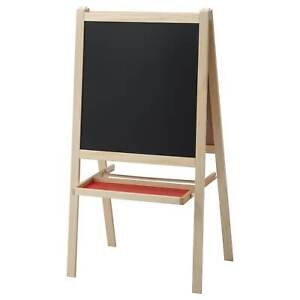 IKEA Mala Easel Softwood White Children's Kids Arts & Crafts Foldable Chalkboard