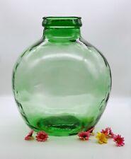 Vintage huge green glass jar dish Viresa