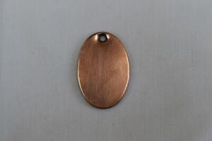 Reclaimed Flat Oval Copper Key Cover/Escutcheon