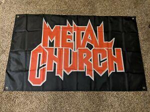 Metal church huge 3'x5' flag