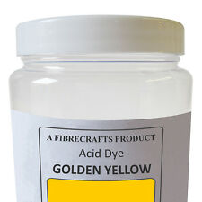 50g Fibrecrafts Acid Dye - Golden Yellow - 100% Dye Stuff for Silk, Wool, Nylon
