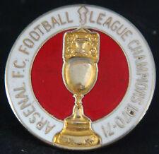 Arsenal FC Vintage 1971 de la Liga de Campeones Insignia Broche Pin En Dorado 29 mm de diámetro