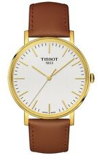 Tissot Men's T-Classic Everytime Silver Dial Gold PVD Watch T109.410.36.031.00