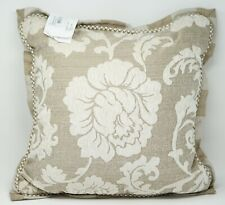 "Croscill Anessa 18"" Square Floral Textured Decorative Pillow - Latte"