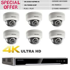 HIKVISION KIT HDMI DS-7608NI-I2/8P+ 6PCS 4.0MP DS-2CD2142FWD-IS DOME CAMERA CCTV
