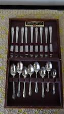 ROGER & BROS REINFORCED PLATE SILVERPLATE 23 PCS + WOODEN CHEST