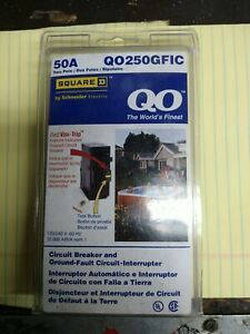 Square-D QO250GFIC 50 Amp GFCI Breaker 2 Pole New