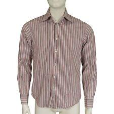 "Hugo Boss Striped Cotton Business Shirt Men's Size 15.5"""