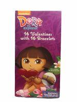 Dora the Explorer Valentine's Day Cards 16 Cards with Bracelets and Envelopes