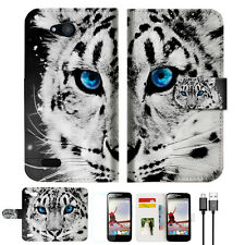 Leopard TPU Wallet Case Cover for Optus X Smart 4g A013