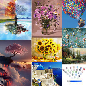 DIY Oil Painting Kit Paint By Numbers Acrylic Adult Children Beginners Frameless