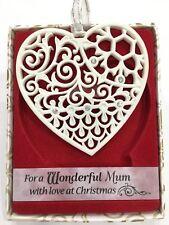 Swarovski® Crystal Keepsake Tree Decoration Merry Christmas Wonderful Mum