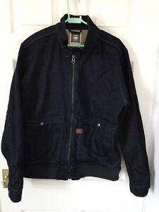 G Star Raw Bomber Style Zipped Denim Jacket. Size XXL.
