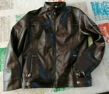 Men's dark brown faux leather jacket XXL bnwot