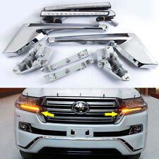 2Pcs Front LED Daytime running light Fit For Toyota Land Cruiser LC200 2016-2019