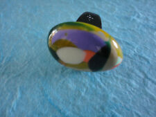 SOBRAL BAGUE Résine COLORE JACKIE BRAZIL SOBRAL RING patchwork Pop Art Rainbow 7