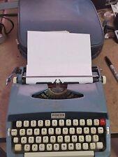 Brother Webster XL-500 Portable Typewriter W/ Matching Case -Vintage Light Blue