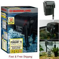 MarineLand Bio-Wheel Penguin 75 GPH Power Filter, Size 10-Gallon - Free Ship