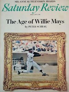 Saturday Review Magazine The Age Of Willie Mays May 1971